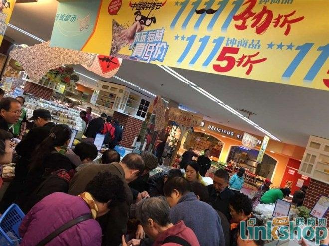 乐城超市2015中国购物节现场火爆,都在买买买