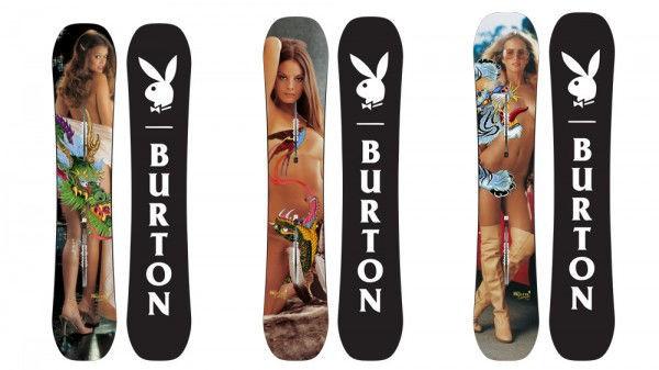 """《花花公子》把""""裸女""""印在滑雪板上 想弄艺术气质"""