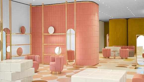 马卡龙品牌Ladurée开了家新店 全是丝绒家具