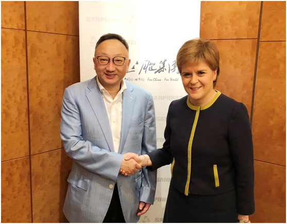 三胞集团袁亚非与苏格兰首席大臣斯特金会谈