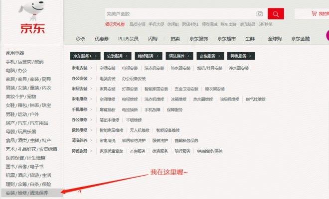 """京东在首页上线""""服务+""""栏目 剑指后服务市场"""