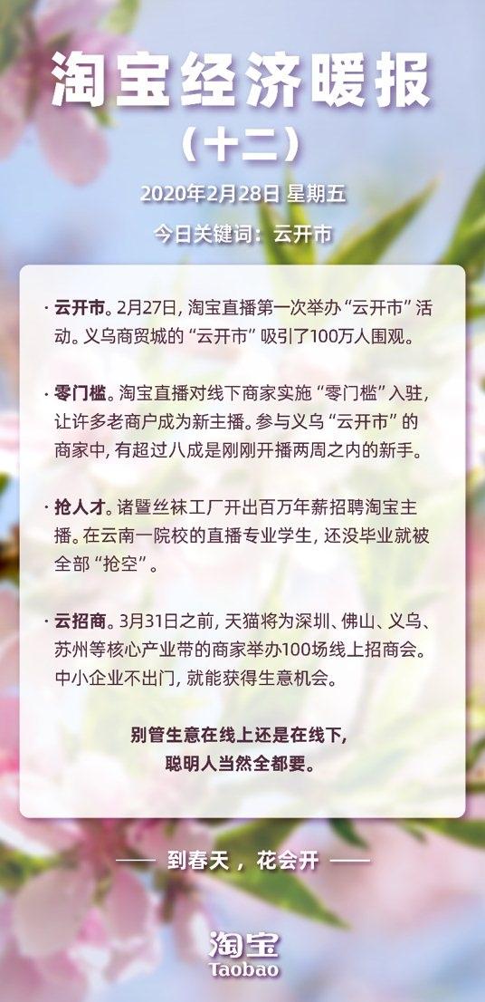"""义乌""""云开市""""引百万人围观开通淘宝直播商家超30"""