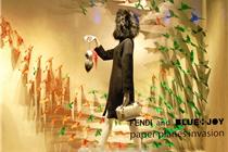 Fendi伦敦橱窗陈列