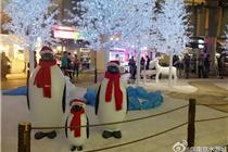 南京水游城冰雪奇缘装饰迎圣诞