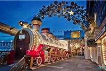 海港城圣诞星域火车美陈装置