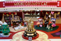 香港mikiki广场圣诞不爽猫「喵星圣诞奥斯卡」装置艺术