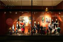 伦敦H&M2013冬季橱窗陈列展示