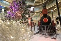 杭州万象城圣诞节现雪国风光