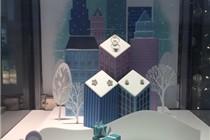 香港Tiffany 圣诞主题橱窗