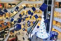 圣诞临近 各地商场圣诞装饰