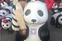 杭州庆春银泰圣诞节熊猫展