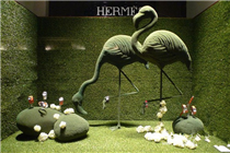 Hermes爱马仕2014春季橱窗创意设计