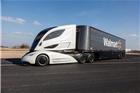 沃尔玛超市的概念型运输卡车