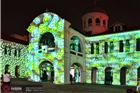 氛围布置国外商业建筑3D投影赏析