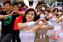 兔女郎蛋小姐助力北京新世界复活节活动