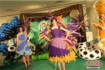"""重庆时代广场展示""""气球服装"""""""
