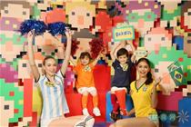 香港东港城世界杯微积木乐园装饰