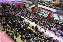 江西瑞昌一红木市场制作20米蛋糕庆生