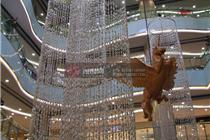南京百货商场中庭水滴造型悬挂美陈主题装饰