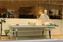 巴黎蒙田大道MAGE2014春夏乒乓球主题橱窗设计
