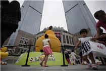"""上海港汇恒隆广场六一万个大黄鸭被""""拔毛"""""""