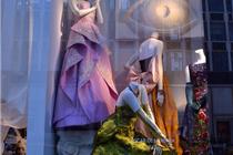 奥斯卡·德拉伦塔优雅礼服橱窗陈列