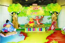 西宝城小熊维尼与跳跳虎丛林探险主题装饰