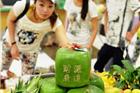 杭州超市出售方形西瓜 常温下可保存半年