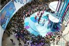 烟台大悦城昨开业张杰助阵 现场图片一览