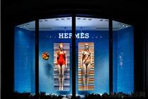 日本爱马仕Hermès 2014泳装橱窗陈列