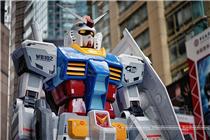 香港时代广场高达机器人巡展