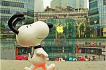 8米高巨型史努比气球首次亮相上海ifc广场