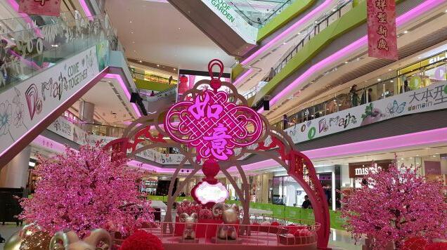 香港大本型商场春节装置艺术设计