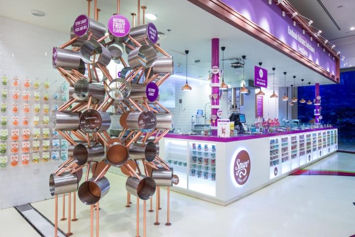 迪拜Candylicious糖果店店铺设计