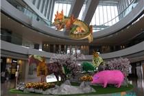 香港ifc mall新年「十二生肖园艺造型」节庆装置