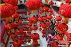 南京一商场张灯结彩喜迎春节