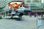 佛山铂顿城商场抢客出奇招 战机模型来撑场