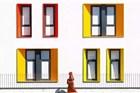 这些彩色建筑 犹如沙漠中的点点绿洲