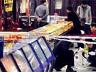 广东蒙面男子深夜打劫超市 店员相当淡定