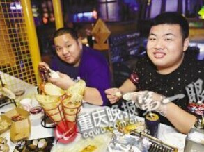 餐厅规定男顾客越胖优惠越多 超280斤免单