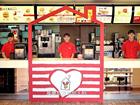 台湾麦当劳营销活动 暖心爱心不找零柜台