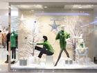 商场服装品牌中岛店的冬季橱窗怎样设置?