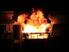 合肥加烨商场顶楼着火 大火持续两个多小时