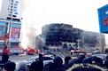 昨日凌晨鲅鱼圈商业大厦突发大火 浓烟滚滚